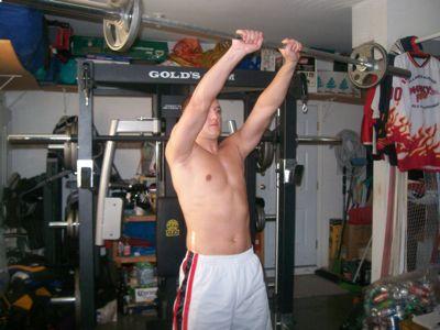 Shoulder - Front Barbell Raise 2