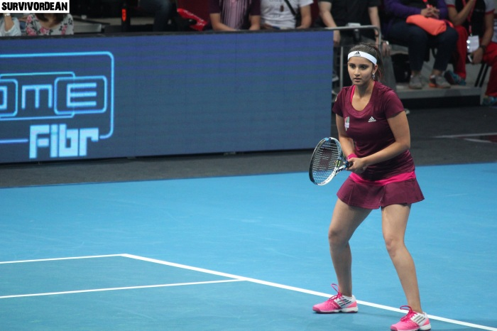 Sania Mirza in action