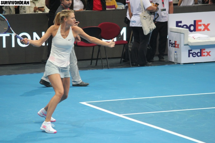 Maria Sharapova in action
