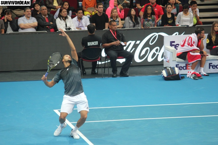 Jo-Wilfried Tsonga in action