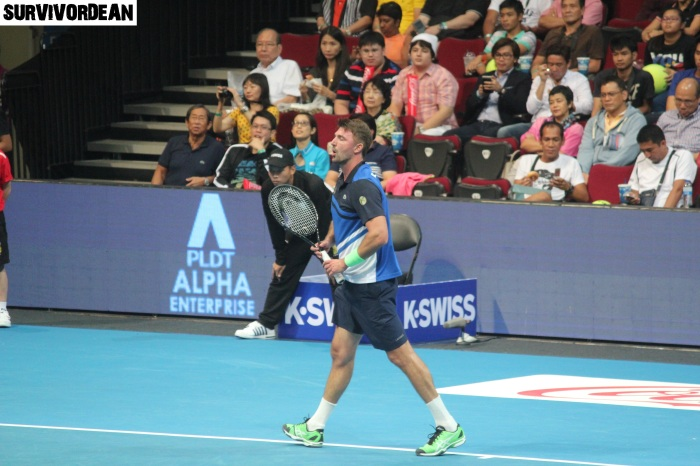 Goran Ivanisevic in action, IPTL Manila