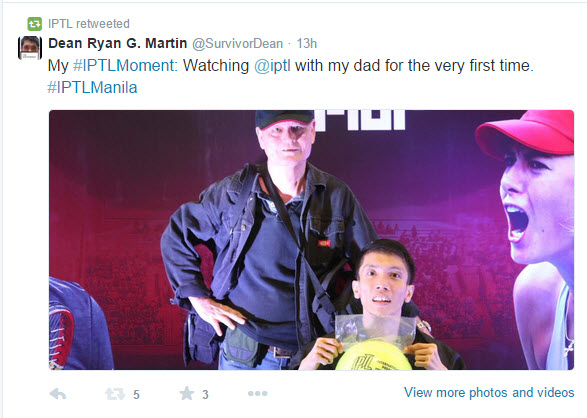 IPTL retweeted my photo with my dad