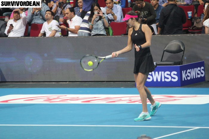 Ana Ivanovic in action, IPTL Day 2