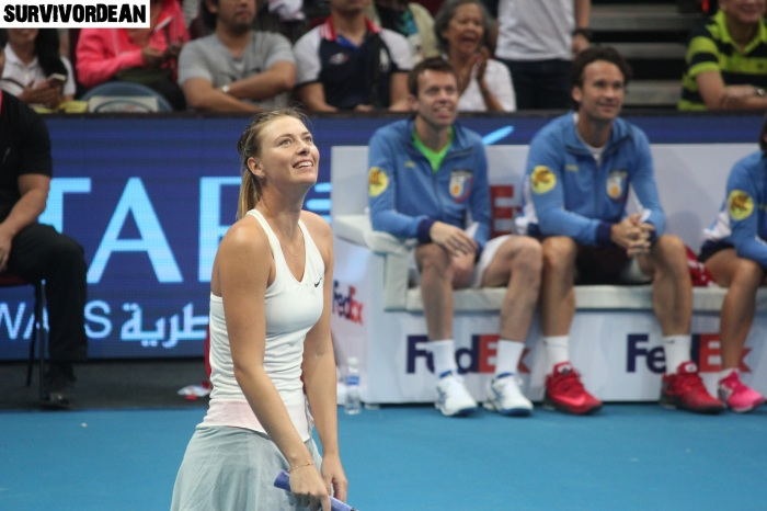 Happy Maria Sharapova